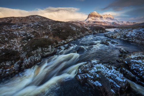 WK11 suilven kirkaig winter
